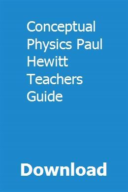 Conceptual Physics Pdf Hewitt