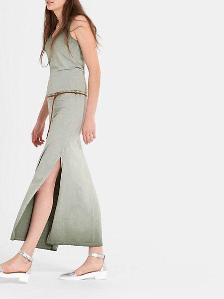 maxi jurk groen