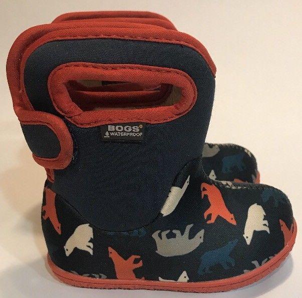 Baby Bogs Toddler Boys Girls Winter Snow Rain Insulated Boots Size 5 Waterproof  | eBay