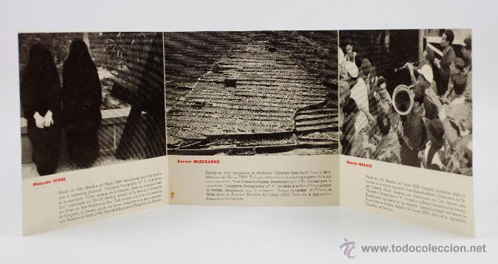 Fotografía antigua: TERRÉ, MISERACHS, MASATS, folleto exposición sala Aixelá, Barcelona marzo-abril 1959. - Foto 3 - 49104519