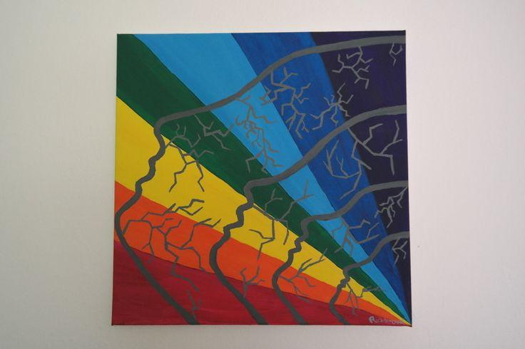 rainbow paint abstract art