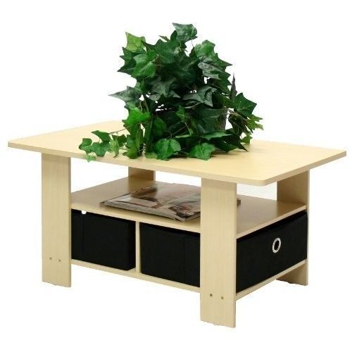 Brown Black Coffee Table Dorm College Furniture Tables Home Steam Beech New Wood #BrownBlackCoffeeTable
