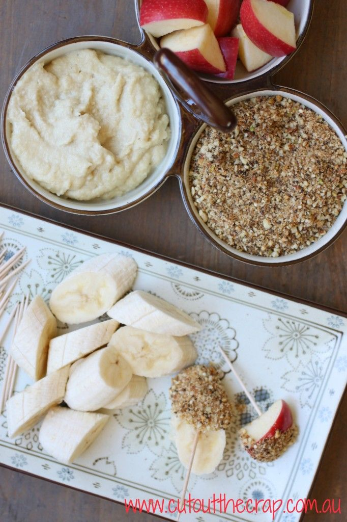 sweet dukkah with cashew and coconut cream