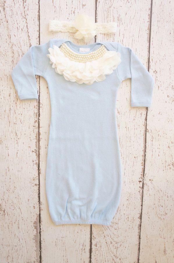 Newborn baby girl gown. #affiliate #baby