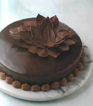 Decoración de chocolate para tortas