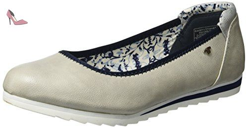 TOM TAILOR  2790103, Ballerines femme - gris - Grau (Ice), 41 EU - Chaussures tom tailor (*Partner-Link)