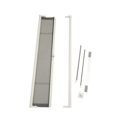 Odl brisa white standard retractable screen door brstwe for Sliding storm doors home depot