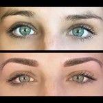 Tatouage maquillage sourcils permanent yeux verts