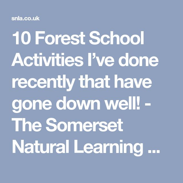 10 Forest School Activities I've done recently that have gone down well! - The Somerset Natural Learning Academy