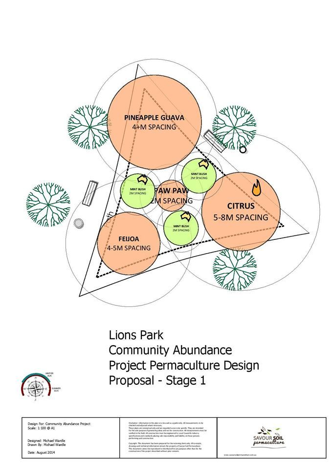 Concept Design For the first bed at the public forest garden project @ Savour Soil Permaculture