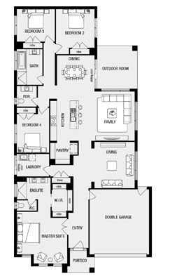 Fairhaven, New Home Floor Plans, Interactive House Plans - Metricon Homes - Melbourne