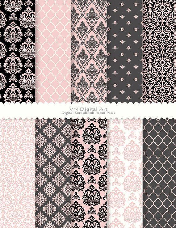 Papier numérique Damas Pack papier numérique 85 x par VNdigitalart