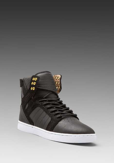 Love the Supra Skytop LX on Wantering | Sneaks and Kicks | mens black high top sneakers | mens shoes | mens style | menswear | mens fashion | wantering http://www.wantering.com/mens-clothing-item/skytop-lx/adopG/