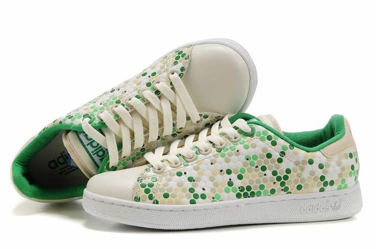 chaussures adidas stan smith imprimé homme | Beige 2014 nouveaux rabais adidas stan smith ponctuée vert imprimé ...
