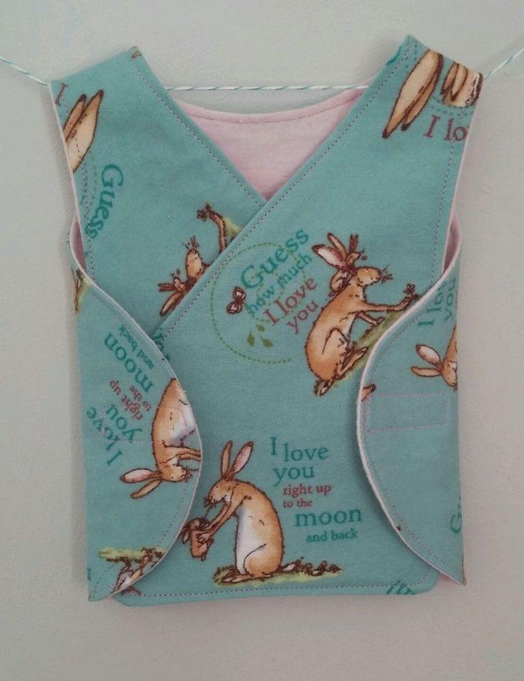 Micro preemie premature baby girl clothes Rabbit print 100% brushed cotton #Handmade