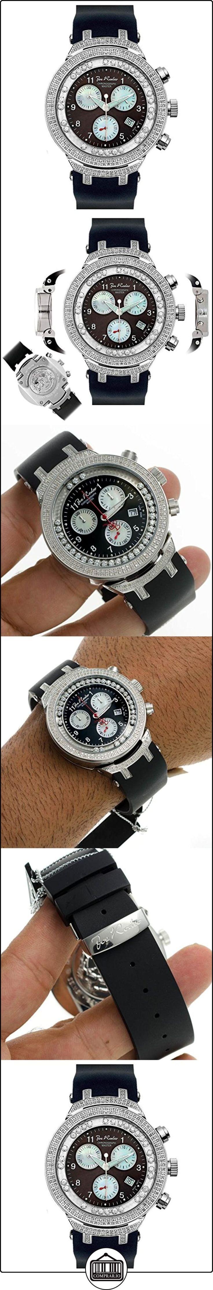 JOE RODEO Diamond Reloj para hombre-Master Plata 2.2quilates  ✿ Relojes para hombre - (Lujo) ✿