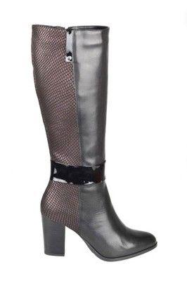 Piękne elegancki czarne kozaki marki Venetti ->->-> http://allegro.pl/kozaki-czarne-venetti-r-38-39-1193-i6592598346.html