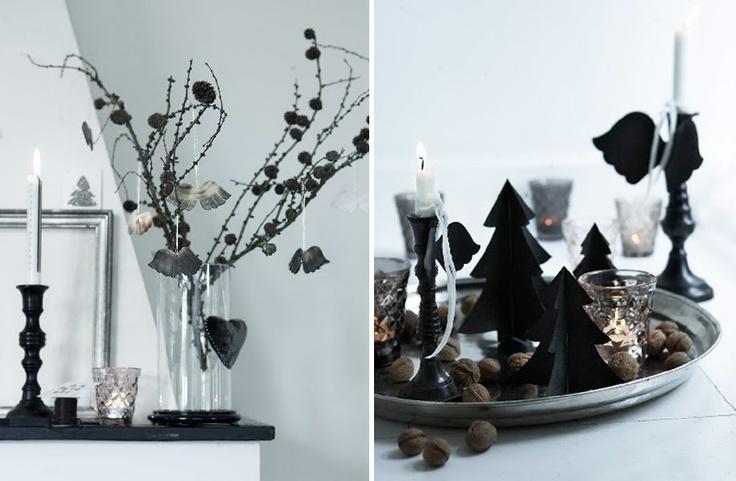 §§§ : black & white christmas decor