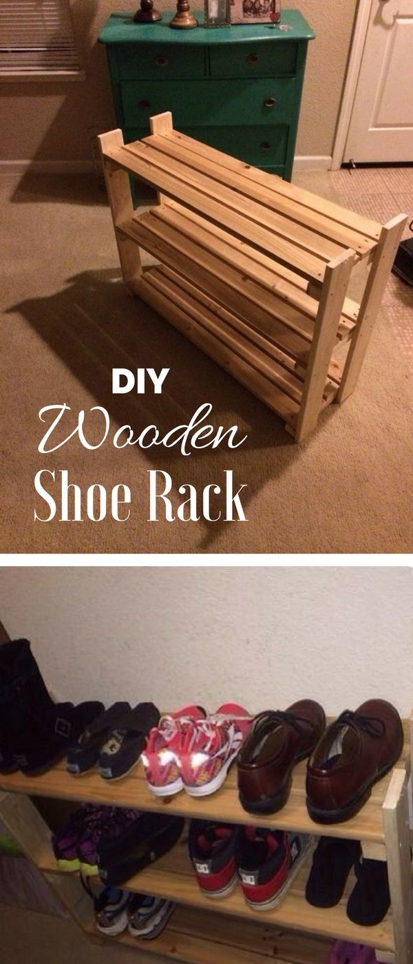 62 easy diy shoe rack storage ideas you can build on a on shoe rack wooden with door id=20954