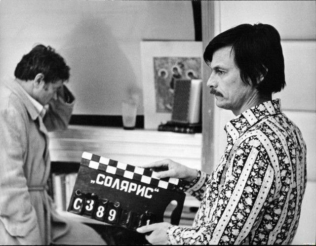 Донатас Банионис и Андрей Тарковский на съёмках «Соляриса», 1972.