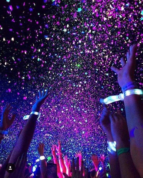 Purple party people | Nightlife aesthetic | Glitter lights ...
