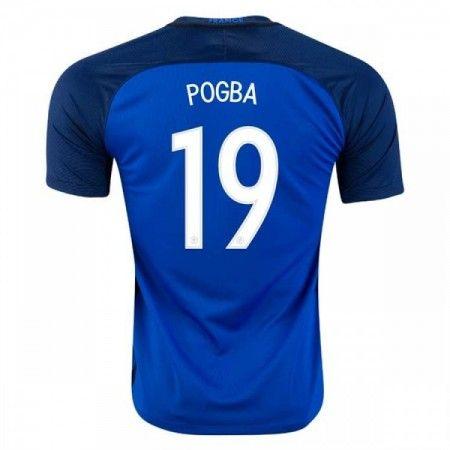 Frankrike 2016 Paul Pogba 19 Hjemmedrakt Kortermet.  http://www.fotballteam.com/frankrike-2016-paul-pogba-19-hjemmedrakt-kortermet.  #fotballdrakter