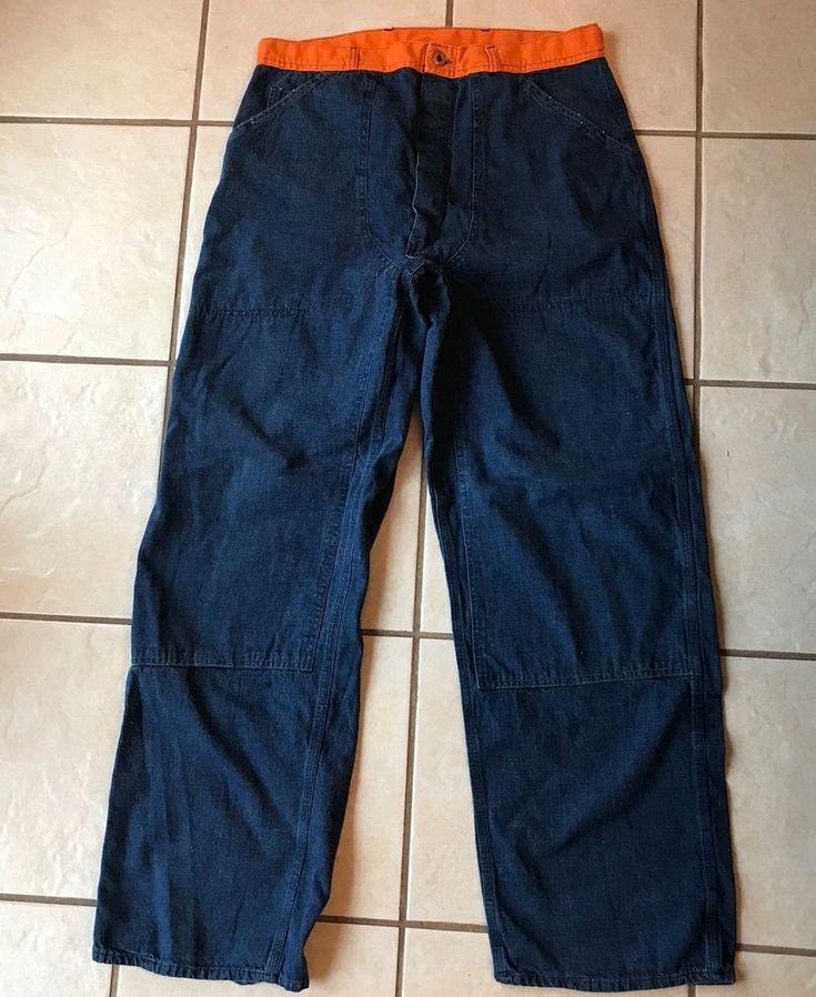 Timken Men's Union Made Cotton Denim Work Trucker Hunting Button Fly Jeans 36  #Timken #BootCut
