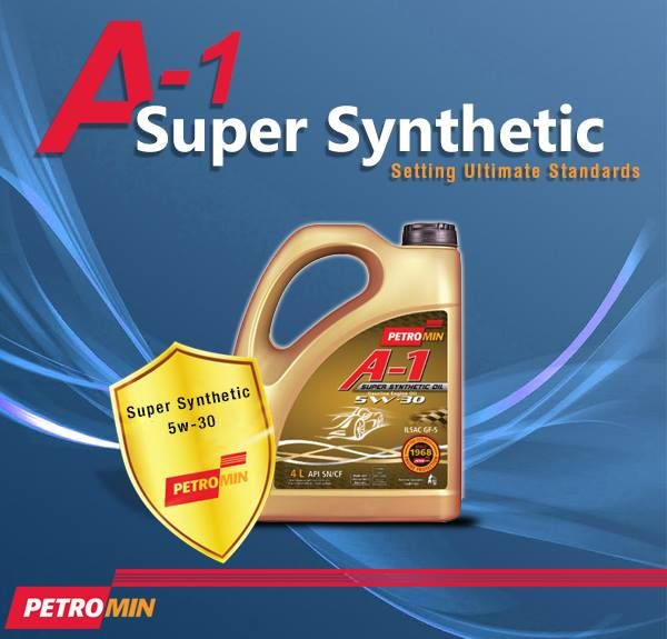 A-1 Super Synthetic, the new line of motor oil to boost your vehicles performance is now in Pakistan.   #Petromin #MotorOil Petromin Pakistan
