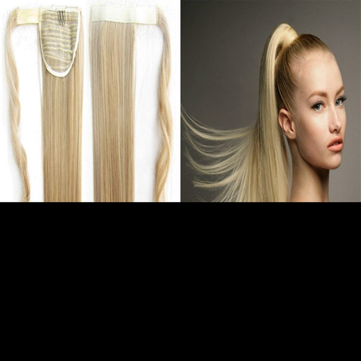 25 unique ponytail hair piece ideas on pinterest futuristic 1pc 22inch 90g synthetic long straight clip in ribbon ponytail hair extension hairpiece pony tail hair pmusecretfo Gallery