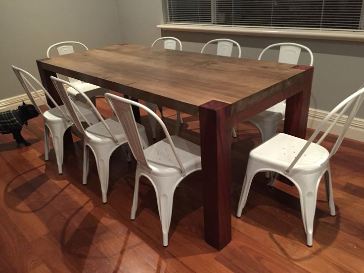 Recycled rustic jarrah table.