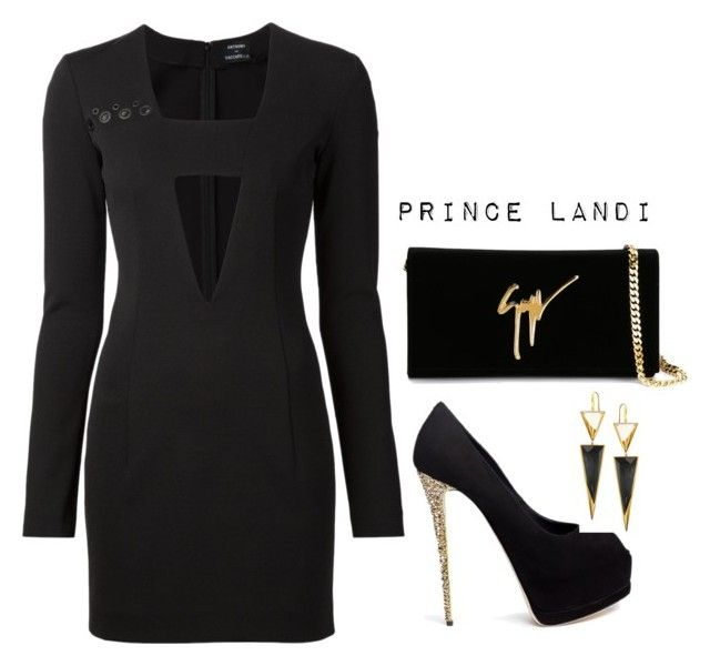 """Untitled #3734"" by prettyassprince ❤ liked on Polyvore featuring Anthony Vaccarello, Giuseppe Zanotti and Lana"