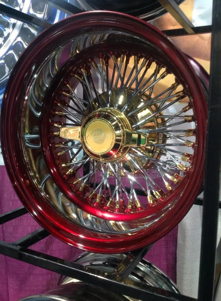 14x7 Reverse 72 Spokes Cross Laced China With Gold Nipples