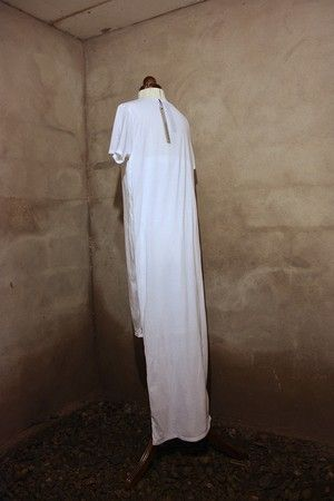 """Unisex Double Tube Dress, White. From """"OKKULT"""", the 2013 collection."""