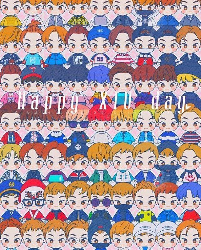 {160326}|#happyxiuminday - | Happy Birthday Xiumin~ (OMG So many Xiu) - | {Fanart made by dyaldial} - | #exok #exom #exofanart #exochibi#kyungsoo #suho#chen#chanyeol#xiumin#kai#sehun#exo  #lay #xiuminfanart #happybirthdayxiumin