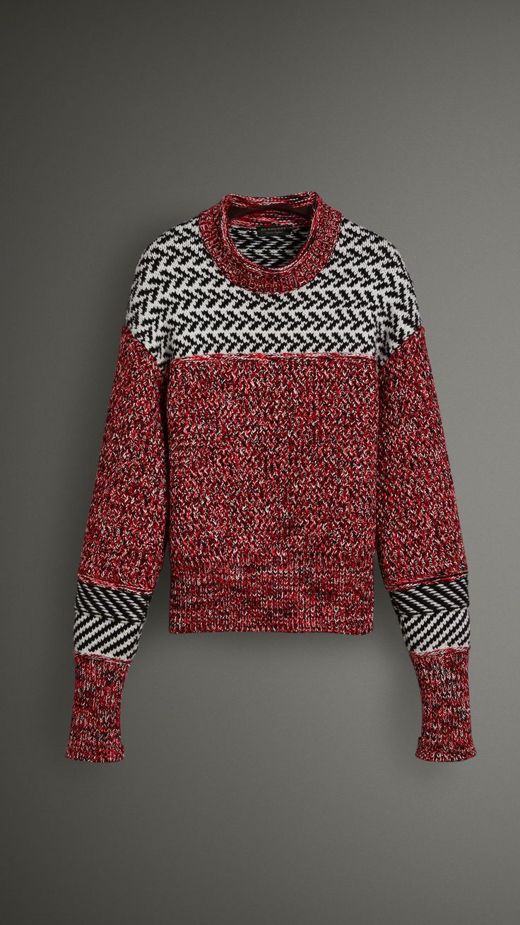 chevrons and arrows knit sweater