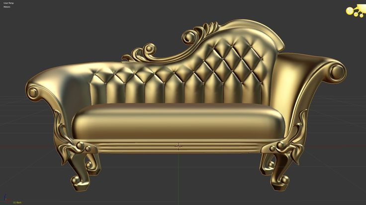 Victorian Deep Button Sofa Blender 3d modeling