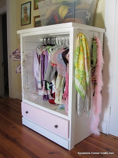 Sycamore Corner Crafts   Dress Up Wardrobe From A Craigsu0027 List Dresser