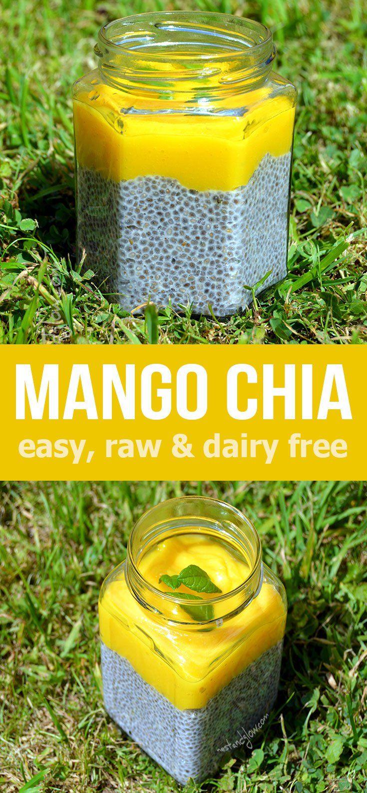 Mango Lime Chia Almond Pudding