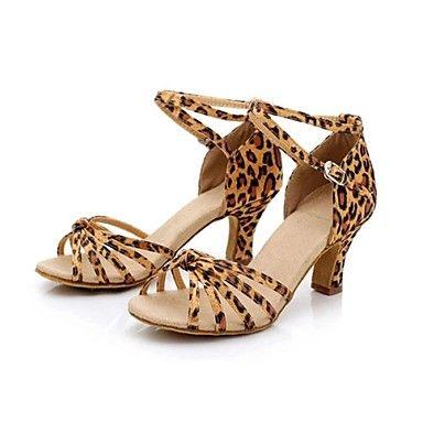 Scarpe da ballo Donna - Latinoamericano / Tipo di scarpe - Basso - Satin - Leopardo del 2016 a €19.59