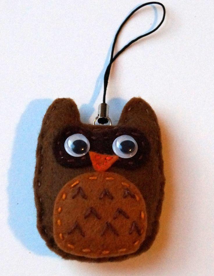Cute owl keychain by TosTosia