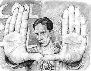 Drawing - Actor Danny Pudi by Greg Joens