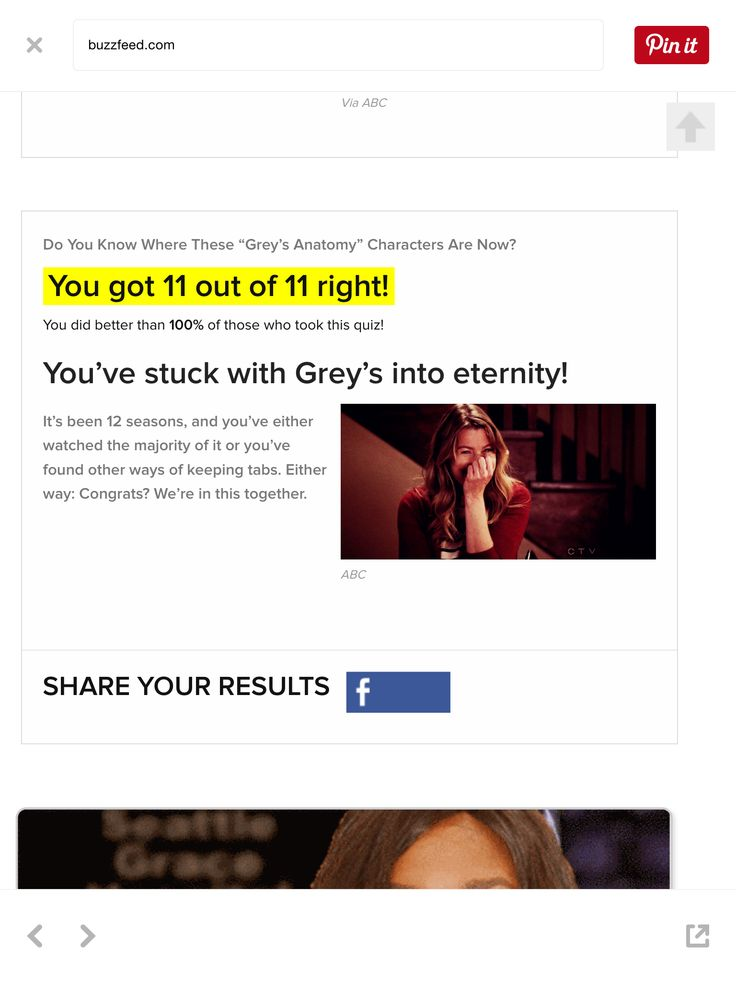 24 best Quiz Results images on Pinterest | Grey\'s anatomy, Greys ...