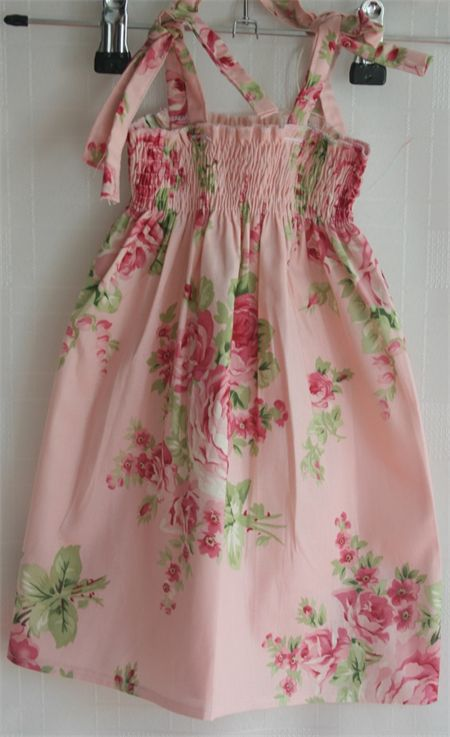 Barefoot Roses Pink Boo! Shirred Dress size 1
