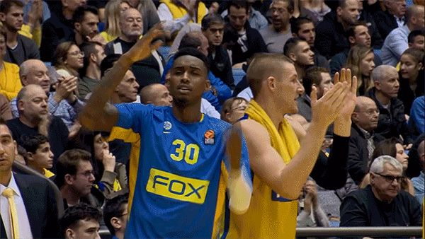 New party member! Tags: basketball dab euroleague euroleague basketball dab on em maccabi tel aviv look at my dab maccabi fox tel aviv quincy miller