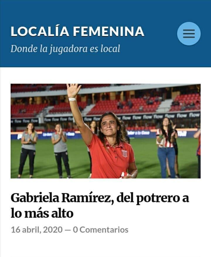 Gabriela Ramirez Del Potrero A Lo Mas Alto Ya Esta Subido A Nuestro Blog El Perfil De La Ex Jugadora De Estudiantes Gabriela In 2020 Soccer Field Soccer Field