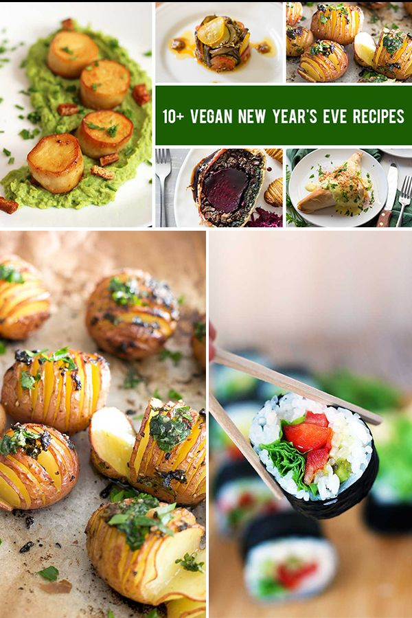 10 Vegan New Year S Eve Recipes That Will Wow Your Guests Gourmandelle Vegan Appetizers Recipes New Year S Eve Recipes
