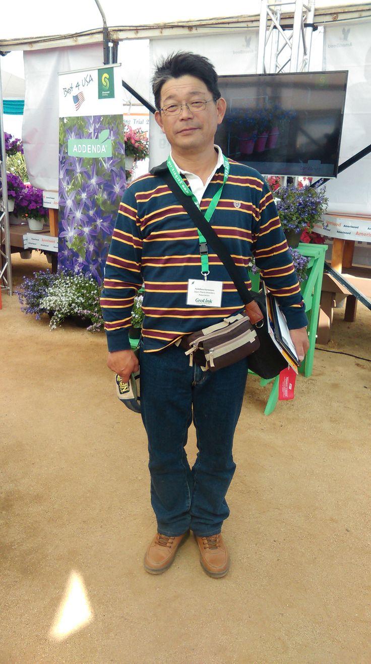 Mr Taiki Kanazawa from Japan, grower of the specialty cyclamen Masako