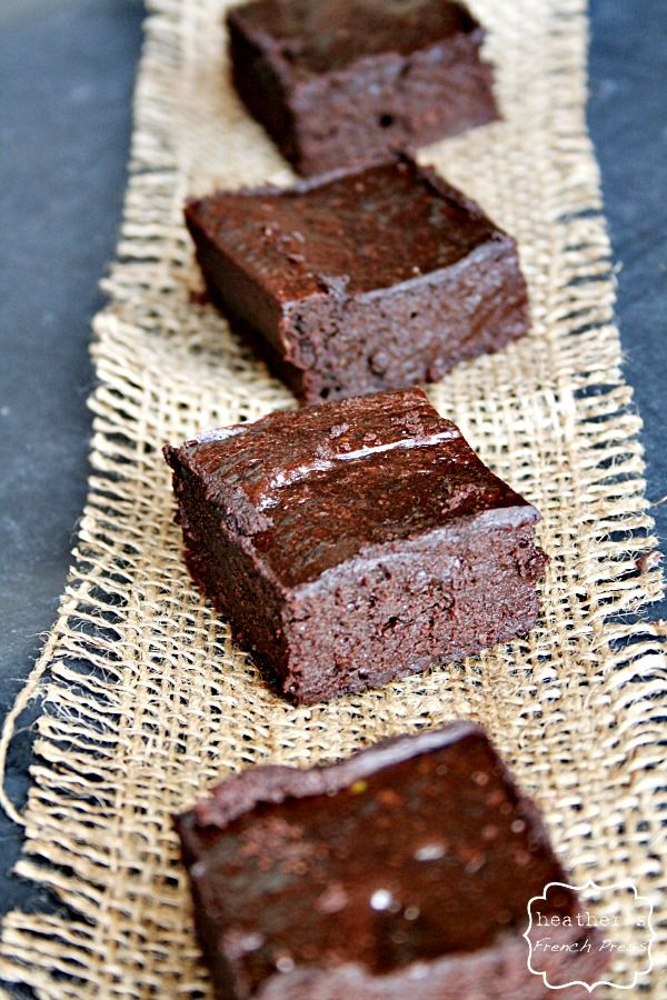 Dark Chocolate {flourless} Avocado Brownies - Heather's French Press