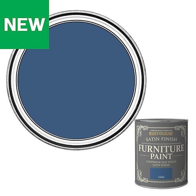 Rust Oleum Cobalt Satin Furniture Paint 750ml Rustoleum Milk Paint Colors Painted Furniture