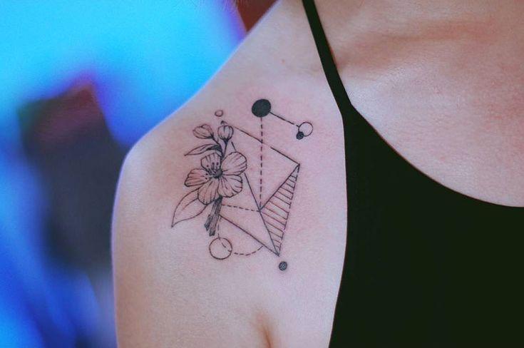 L'art du tatouage minimaliste par Seoeon #2